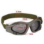 Tactical Military Metal Mesh Goggles Lunettes de tir Masque Airsoft Pour CS Shooting Casque de Chasse Lunettes de Protection (Olive) de la marque image 4 produit
