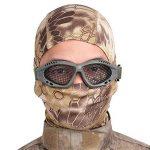 Tactical Military Metal Mesh Goggles Lunettes de tir Masque Airsoft Pour CS Shooting Casque de Chasse Lunettes de Protection (Olive) de la marque image 5 produit