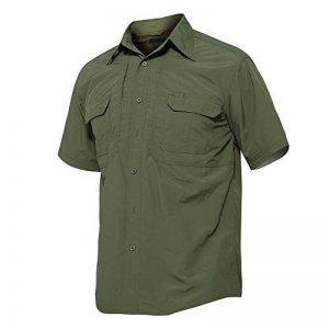Tacvasen pour homme à séchage rapide protection UV à manches courtes boutonné Chemise pour décontractée et extérieure de la marque image 0 produit
