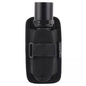 Étui de lampe de poche, porte-torche tactique Housse étui de torche avec clip de ceinture rotatif à 360 degrés, noir de la marque image 0 produit