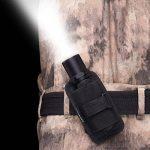 Étui de lampe de poche, porte-torche tactique Housse étui de torche avec clip de ceinture rotatif à 360 degrés, noir de la marque image 6 produit