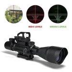 UMsky Lunette De Visée 4-12x50mm avec Réticule rétroéclairable (Rouge/Vert) et viseur reflex holographique (Red Dot) de la marque image 1 produit