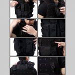 Uni que Bella 600D Nylon Molle Tactique Militaire Mil-Tec Gilet Gilet Veste tactique tan Plaque bretelles Gilet de protection plate Carrier Camouflage de la marque image 3 produit