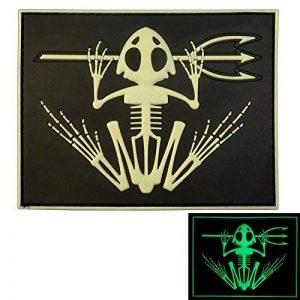 US Marine Navy Seals Bone Frog Crâne Squelette DEVGRU Morale PVC 3D Hook&Loop Écusson Patch de la marque image 0 produit