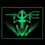 US Marine Navy Seals Bone Frog Crâne Squelette DEVGRU Morale PVC 3D Hook&Loop Écusson Patch de la marque image 2 produit