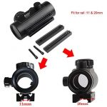 Vert Rouge Dot Vue Fusil Portée Reflex Optique Holographique Tactique S'adapte 11mm / 20mm Rail avec Flip Up Cover Lens pour Airsoft Gun de la marque image 1 produit