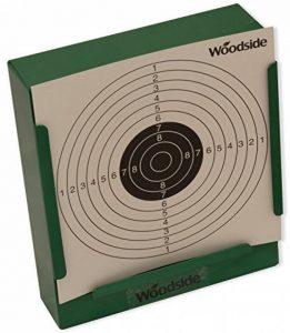 Woodside - Porte-cible avec récupérateur de balles + 100 cibles de 14 cm - pour fusil de chasse/pistolet d'airsoft de la marque image 0 produit