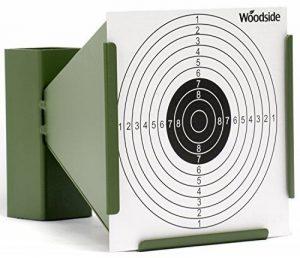 Woodside - Porte-cible entonnoir avec récupérateur de balles + 100 cibles de 14 cm - pour fusil de chasse/pistolet d'airsoft de la marque image 0 produit