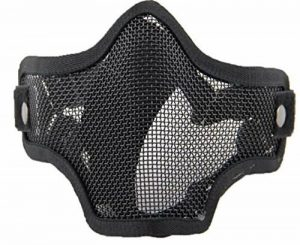 WorldShopping4U respirante Tactical Paintball Métal Mesh militaire Squelette Demi Visage Masque de protection Airsoft War Game de la marque image 0 produit