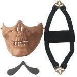 wwman Airsoft Demi Visage crâne Masque tactique extérieur chasse CS Masque Jeu de Guerre de la marque image 4 produit