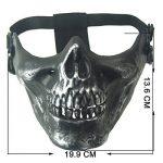 wwman Airsoft Demi Visage crâne Masque tactique extérieur chasse CS Masque Jeu de Guerre de la marque image 3 produit