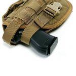 Yisibo Etui/Holster à Pistolet MOLLE Tactique Militaire Avec Porte Chargeur Pour 1911 45 92 96 Glock de la marque image 3 produit