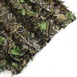 Zicac -Ensemble Veste à Capuche et Pantalon Camouflage avec des Feuilles 3D Séchage Rapide pour Photographie Chasse Hunting de la marque image 5 produit